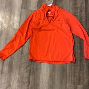 Coral Puma 3/4 Zip Jacket